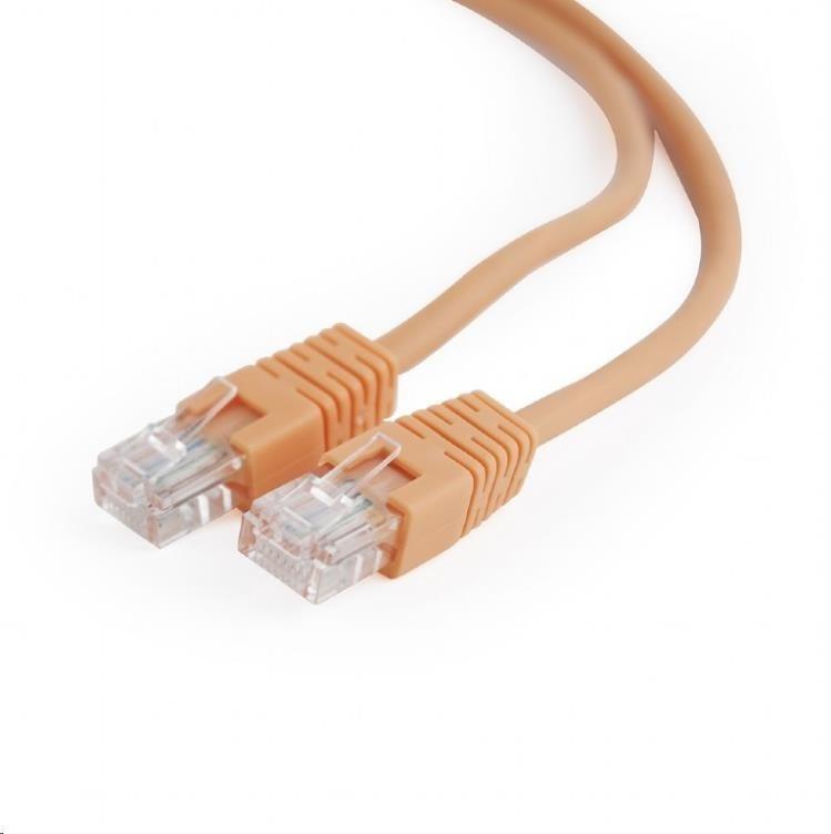 GEMBIRD Kabel UTP Cat5e Patch 0,5m, oranžový