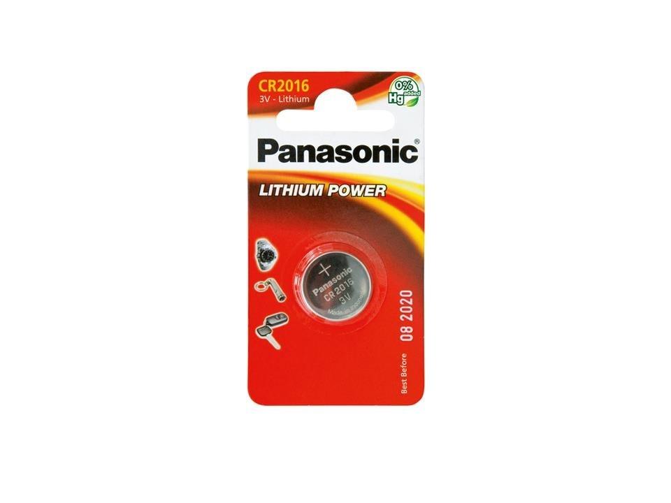 PANASONIC Mincové (knoflíkové) baterie CR-2016 - lithiové 3V balení - 1ks