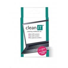 CLEAN IT čisticí roztok na notebooky s utěrkou, 2x30ml