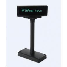 PARTNER Tech zákaznický display CD-7220 VFD 2X20 5V USB black