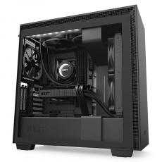 NZXT skříň H710i / ATX / průhledná bočnice / USB 3.0 / USB-C 3.1 / RGB LED / Smart case s intel. funkcemi / černá
