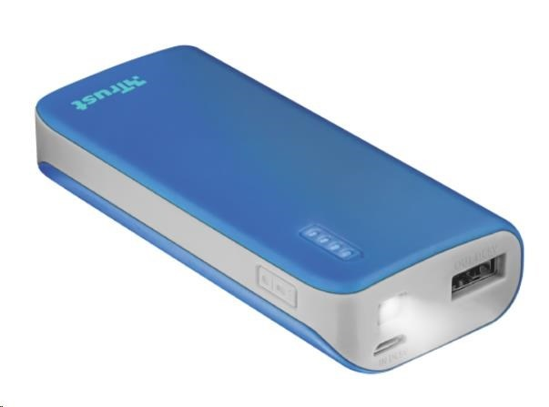 TRUST PRIMO POWERBANK 4400 PORTABLE CHARGER, blue