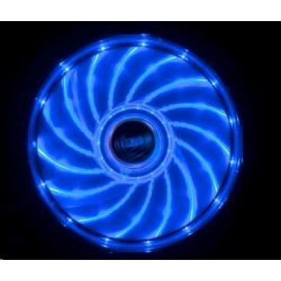 AKASA Vegas PC ventilátor 120x120x25mm, 1200rpm, 15 led diod, modrý