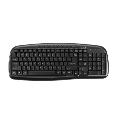 GENIUS klávesnice KB-M225C černá/ Drátová/ multimediální/ USB/ černá/ CZ+SK layout