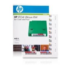 HP LTO-4 Ultrium Bar RW Code Label Pack, Q2009A