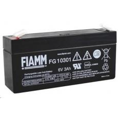 Baterie - Fiamm FG10301 (6V/3Ah - Faston 187), životnost 5let