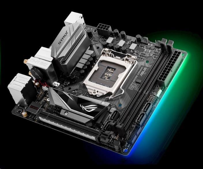 ASUS MB Sc LGA1151 ROG STRIX B250I GAMING, Intel B250, 2xDDR4, VGA, Wi-Fi, mini-ITX