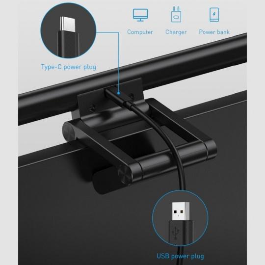 Baseus i-Wok series USB Stepless Dimming Screen Hanging Light (Fighting) Black