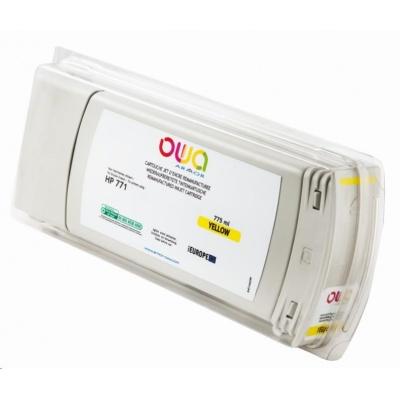 OWA Armor cartridge pro HP DesignJet Z 6200, 6600, 6800, 775ml, B6Y10A, Yellow