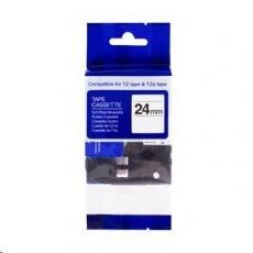 PRINTLINE kompatibilní páska s Brother TZE-251, TZ-251, 24mm x 8m, černý tisk / bílý podklad