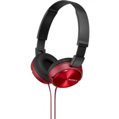 SONY stereo sluchátka MDR-ZX310, červená