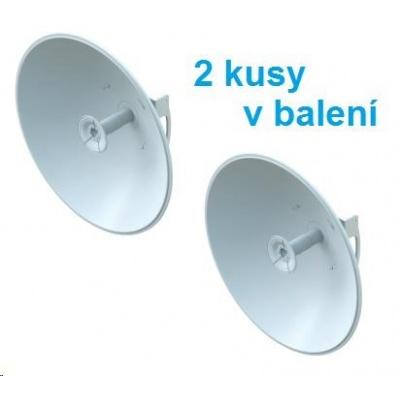 UBNT airFiber Dish AF-5G30-S45, 2kusy v balení [směrová MIMO anténa pro AF-5X, 5GHz, 23dBi, 5°, průměr 650mm]