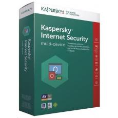 Kaspersky Internet Security CZ multi-device, 5 zařízení, 1 rok, nová licence, BOX