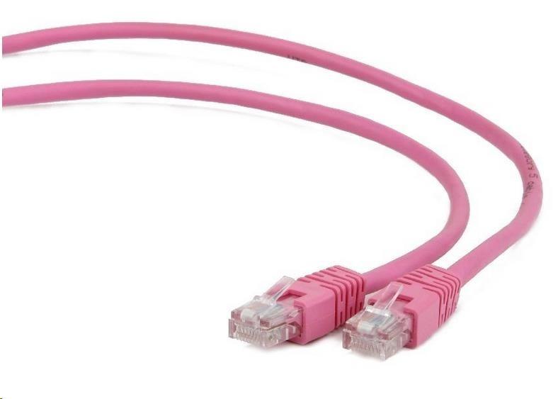 GEMBIRD Kabel UTP Cat5e Patch 1m, růžový