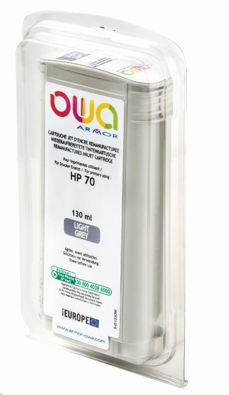 OWA Armor toner pro HP DesignJet Z 2100, 3100, 130ml, C9451A, light Grey