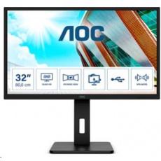 """AOC MT IPS LCD WLED 31,5"""" Q32P2CA - IPS panel, 2560x1440, 2xHDMI, DP, USB-C, USB, repro, pivot"""