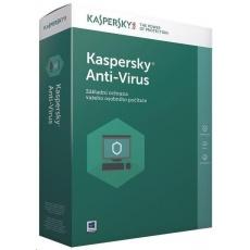 Kaspersky Anti-Virus CZ, 3PC, 1 rok, nová licence, elektronicky