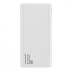 Baseus Bipow powerbanka PD + QC 10000mAh 18W, bílá