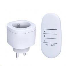 Solight dálkově ovládané zásuvky set 2 + 1, 2 zásuvky, 1 ovladač