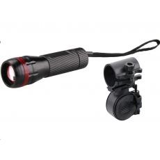Extol Light svítilna 3W CREE LED s držákem na kolo, 120lm 43110