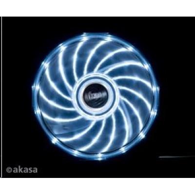 AKASA Vegas PC chladič, podsvícený, 15 led diod, bílý