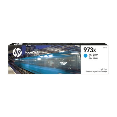 HP 973X High Yield Cyan Original PageWide Cartridge
