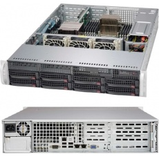 SUPERMICRO Server 2610Q Epyc 7262 (3.2G/8C/64M/3200) 1x16G 6PCI-E 8LFF/SFF 1x600W 2x1G iKVM NBD303 2U