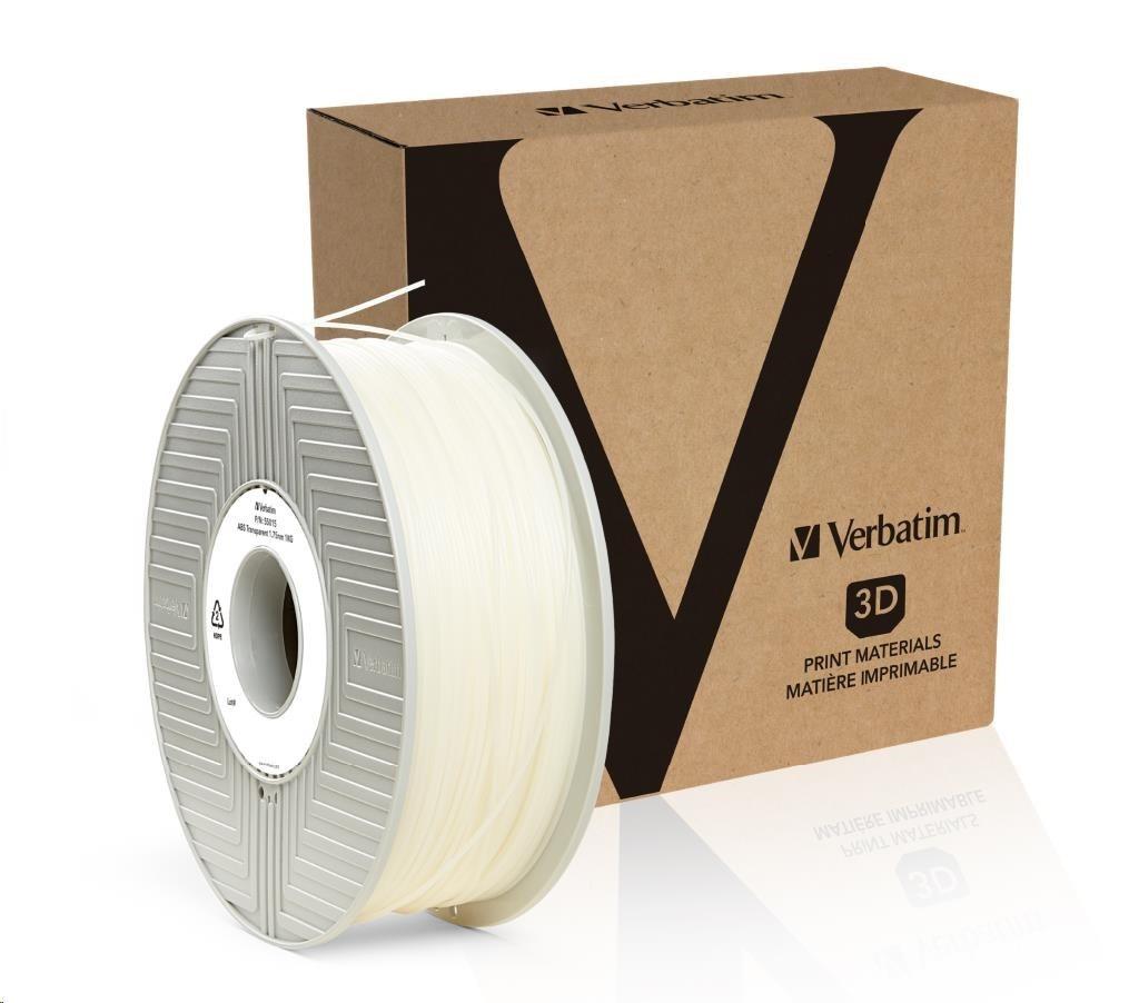 VERBATIM 3D Printer Filament ABS 1,75mm 1kg transparent