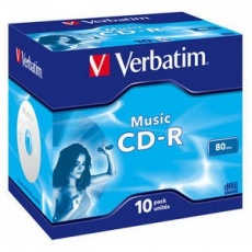 VERBATIM CD-R(10-pack)Audio/Live it!/Colour/Jewel/80Min
