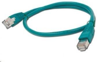 GEMBIRD Patch kabel CAT6 stíněný FTP 0,5m, zelený