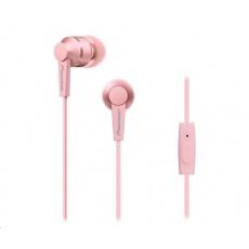 Sluchátka do uší-růžová-SE-C3T-P