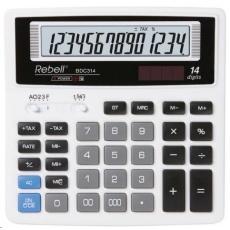 REBELL kalkulačka - BDC314 - bílá