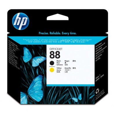 HP 88 Black+Yellow OfficeJet printhead, C9381A