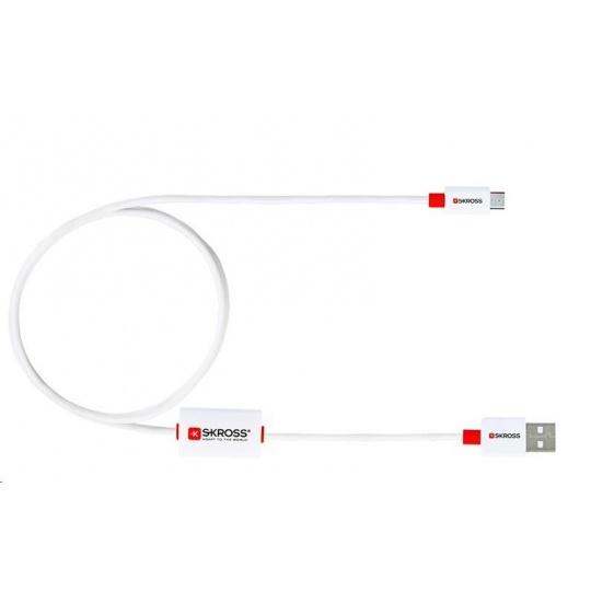 SKROSS alarm USB kabel SKROSS BUZZ Micro USB, akustické upozornění, délka 1m, pro nabíjení a přenos dat