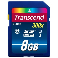 TRANSCEND SDHC karta 8GB Premium, Class 10 UHS-I, 300X