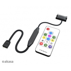 AKASA ovladač Vegas Remote Control Mate,3-Pin aRGB controller cable+remote