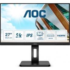 """AOC MT IPS LCD WLED 27"""" U27P2CA - IPS panel, 3840x2160, 2xHDMI, DP. USB-C, USB, repro, pivot"""