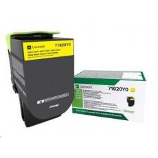 Lexmark C332HY0 Žlutá vysokokapacitní tisková kazeta z vratného programu