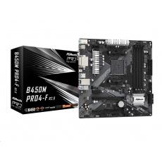 ASRock MB Sc AM4 B450M PRO4-F R2.0, AMD Promontory B450, 4xDDR4, 1xHDMI, 1xDVI, 1xVGA, mATX