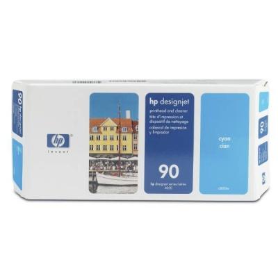 HP 90 Cyan Printhead + Printhead Cleaner, C5055A