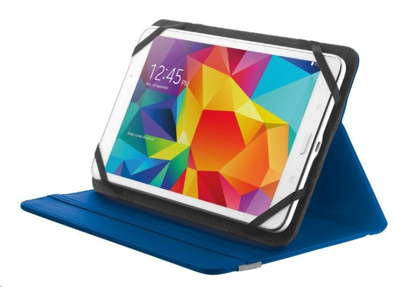 "TRUST Pouzdro na tablet 7-8"" Primo Folio Stand for tablets - blue, modré"