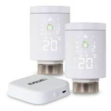 EVOLVEO Heat M30 Starter Pack, 2× chytrá termostatická hlavice na radiátor & centrální jednotka