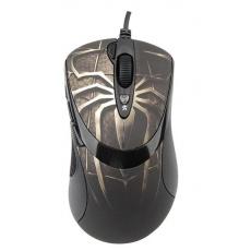 A4tech XL-747H, herní myš, ANTI-VIBRATE, 3600DPI, motiv pavouk hnědý