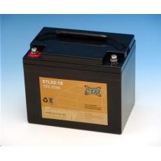 Baterie - CTM CTL 33-12 (12V/33Ah - M6), životnost 10-12let