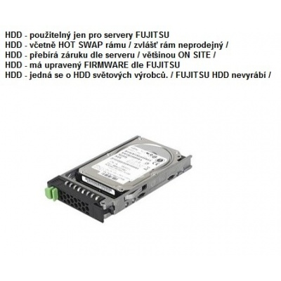 """FUJITSU HDD SRV SAS 6G 600GB 15k H-P 3.5"""" EP - TX1330M1 TX2540M1 TX300S8 RX300S8 TX300S7"""