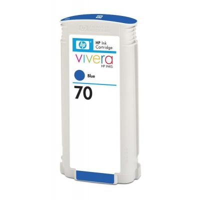 HP 70 Blue DJ Ink Cart, 130 ml, C9458A
