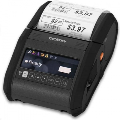 BROTHER tiskárna účtenek RJ-3150 ( termotisk, 80mm účtenka,  USB bluetooth WIFI 32MB )