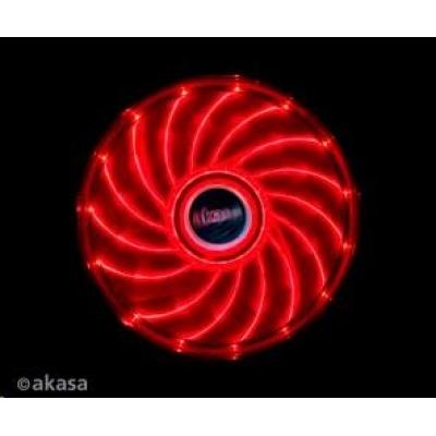 AKASA Vegas PC chladič, podsvícený, 15 led diod, červený