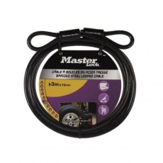 MasterLock 49EURD Ohebné ocelové lanko - 300cm x 1cm