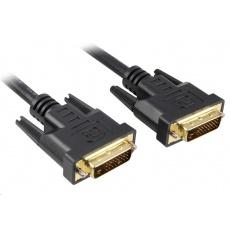 PREMIUMCORD Kabel DVI - DVI propojovací 2m (DVI-D, M/M, dual link)